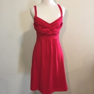 Wet Seal Red Strappy Sun Dress Body Con Sz Medium